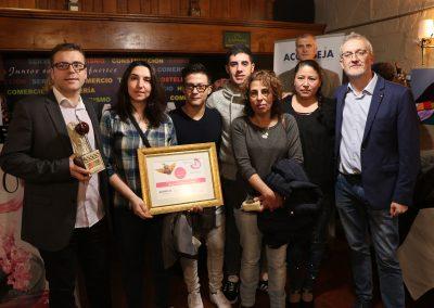 1º Premio Mejor Tapa. Jurado técnico: Pizzeta Km0 de Restaurante Cobarcho